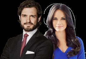 Carlos Felipe de Suecia y Sofia Hellqvist